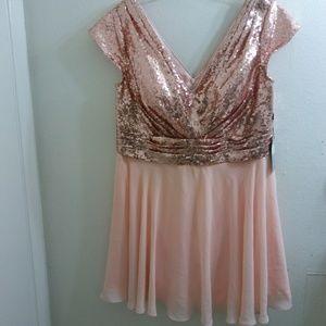 MACloth Dress Rose Gold Custom Made Fits Like a 14